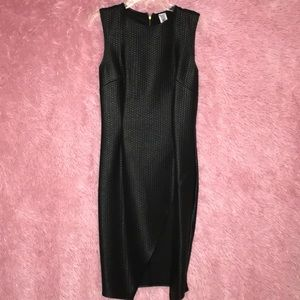 Black leather dress with a side split (worn once)